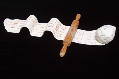 """Ploughshares into Swords, 6"""" x 15"""", variable"""